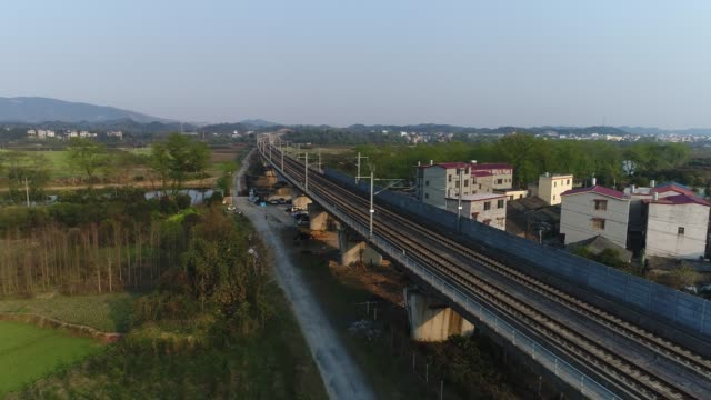a high-speed train viaduct a viaduct - passenger train stock videos & royalty-free footage