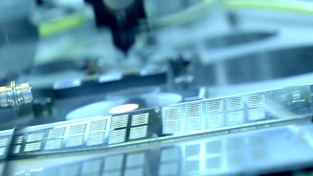 high-tech production line - electronics industry stock videos & royalty-free footage