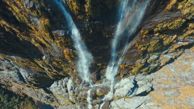 AERIAL Highup glada vattenfall