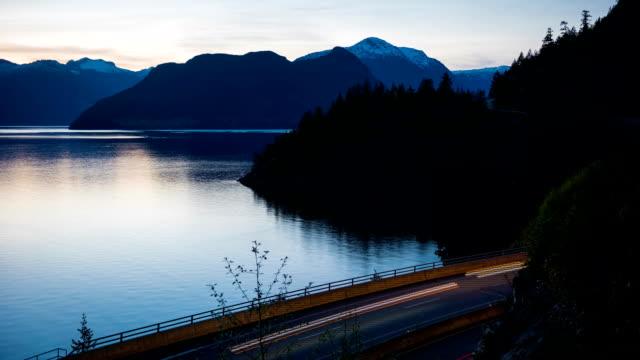 Highway 99 at dusk