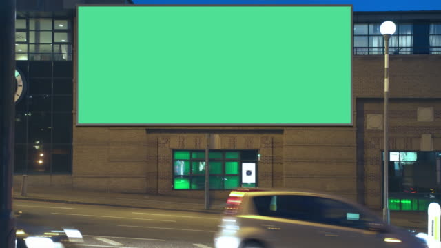 highway advertising building night - banner sign stock videos & royalty-free footage