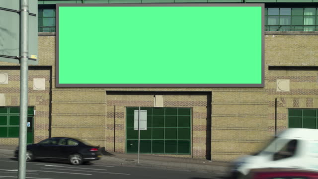 highway advertising daylight - tabellone video stock e b–roll