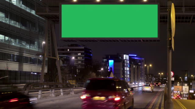 highway advertising - tabellone video stock e b–roll