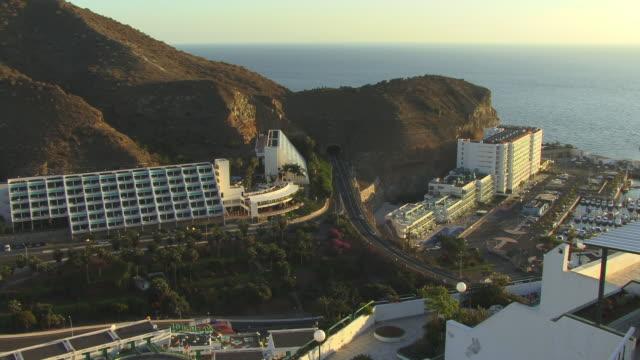 WS, HA, Highway and tourist resorts along coastline, Puerto Rico, Gran Canaria, Canary Islands, Spain
