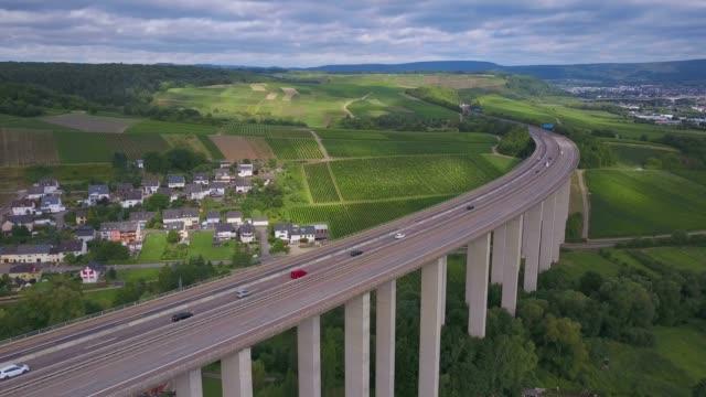 Highway bridge of Highway 1 near Riol, Moselle Valley, Rhineland-Palatinate, Germany, Europe