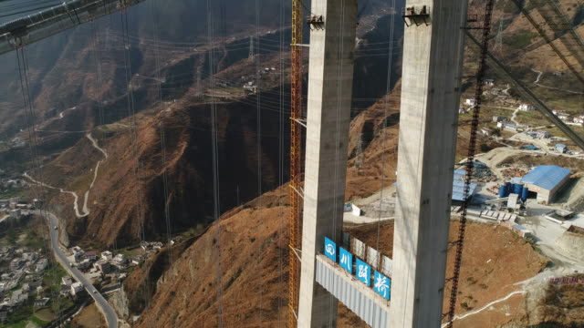 highway bridge under construction - 四川省点の映像素材/bロール