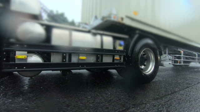 highway driving at rainy day - articulated lorry stock videos & royalty-free footage