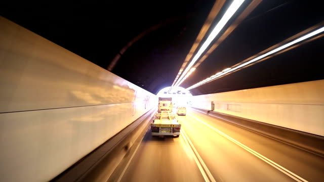hd: highway driving through a tunnel - lantau stock videos and b-roll footage