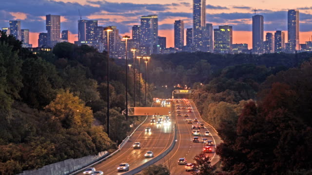 dvp highway evening traffic - two lane highway stock videos & royalty-free footage