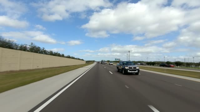 highway florida xiii synced series rear view driving process plate - rear view stock videos & royalty-free footage