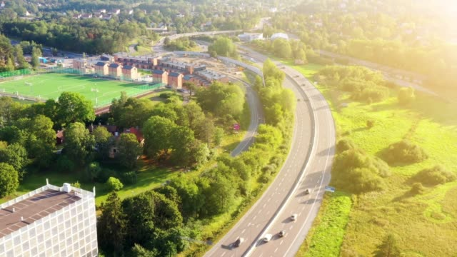 highway in rissne, stockholm - stockholm bildbanksvideor och videomaterial från bakom kulisserna
