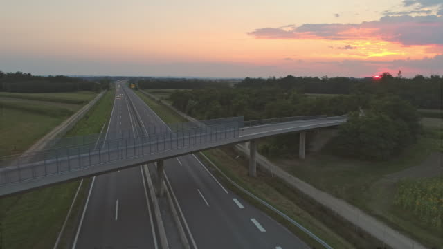 aerial highway in the countryside - highway stock videos & royalty-free footage