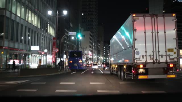 highway in tokyo, japan - トラック点の映像素材/bロール