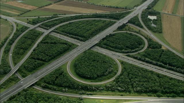 stockvideo's en b-roll-footage met aerial zi highway interchange, lower austria, austria - lower austria