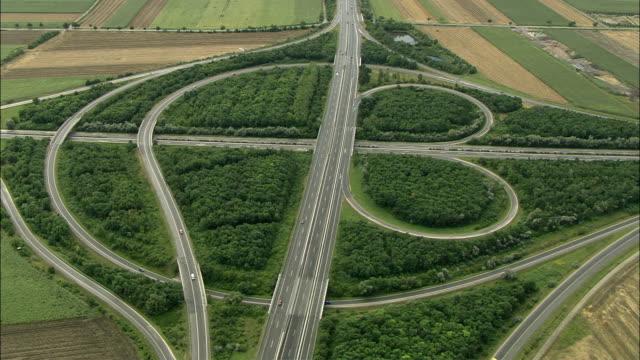stockvideo's en b-roll-footage met aerial highway interchange, lower austria, austria - lower austria