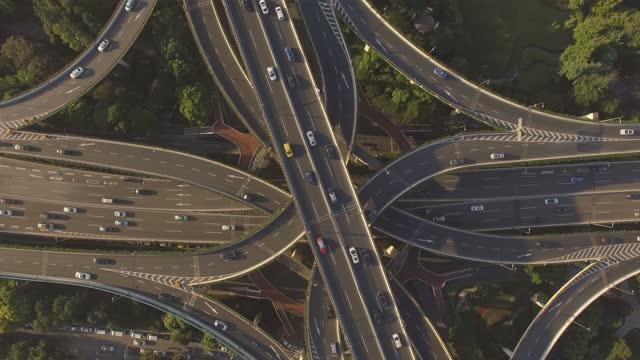 highway interchange - motorway junction stock videos & royalty-free footage