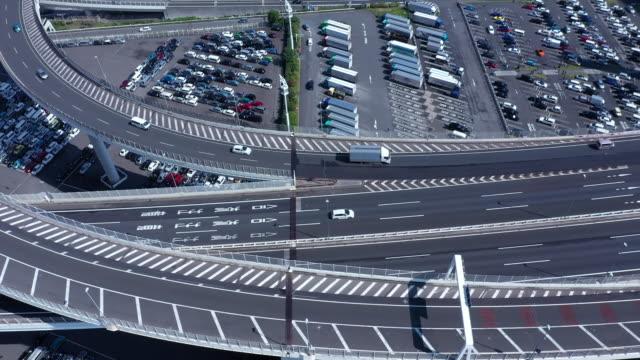 highway jct in yokohama - 神奈川県点の映像素材/bロール