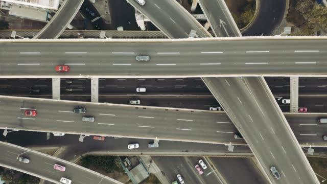 Vista aérea de la ensambladura de carretera