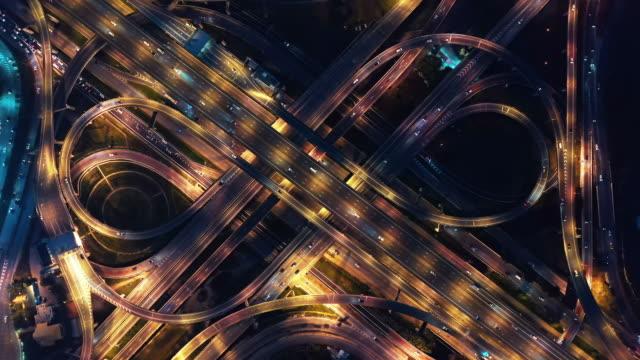 highway junction aerial view - sydostasien bildbanksvideor och videomaterial från bakom kulisserna