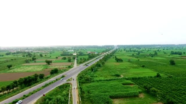 Highway near green field