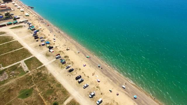 海沿岸航空写真: 高速道路 - クワッドコプター点の映像素材/bロール
