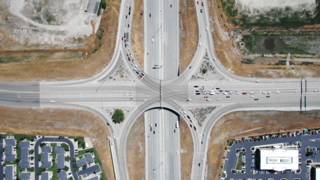 highway overpass - crossroad stock videos & royalty-free footage
