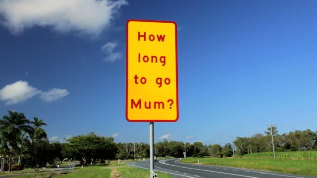 highway road sign, queensland, australia, southern hemisphere - southern hemisphere stock videos & royalty-free footage
