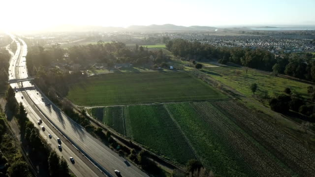 highway running off into sunset in bay area california - san jose california stock videos & royalty-free footage