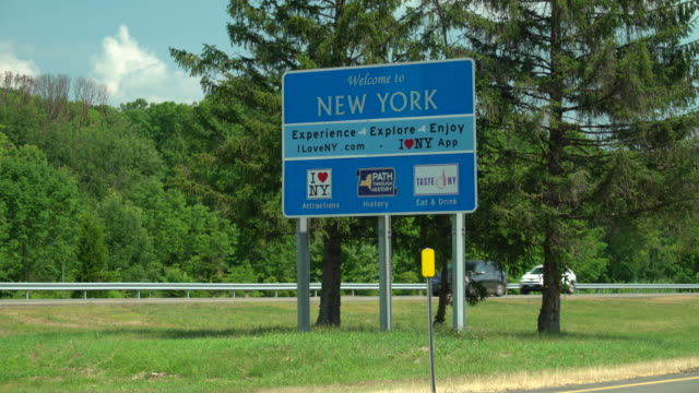 WELCOME TO NEW YORK - Highway Sign