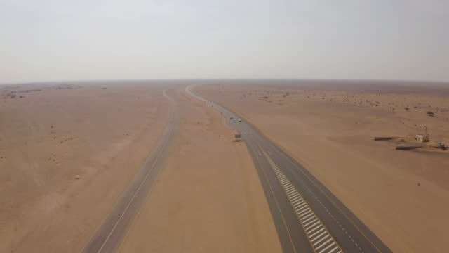 aerial highway through the desert - motorway stock videos & royalty-free footage