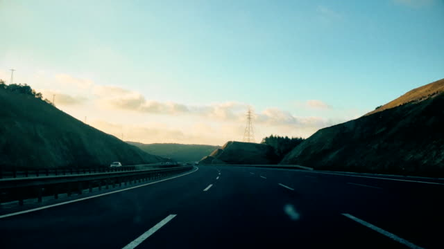 highway time lapse - vanishing point stock videos and b-roll footage