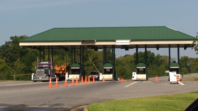 highway toll booth - conformity stock videos & royalty-free footage
