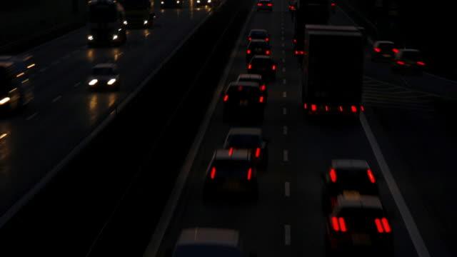 Autobahn-Verkehr am Abend Cinemagramm