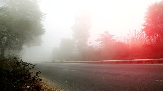 highway traffic during fog, mist & smog - delhi stock videos & royalty-free footage