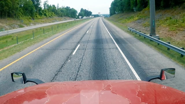highway traffic from the truck - steering wheel stock videos & royalty-free footage