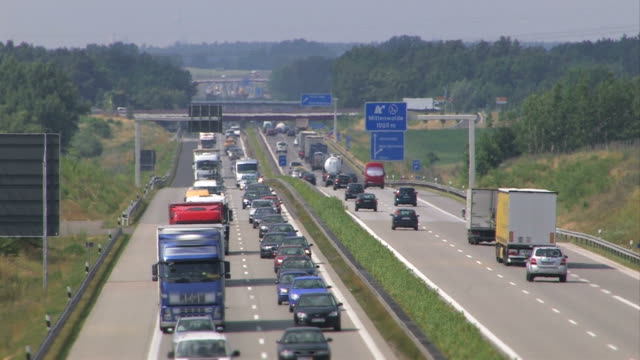 highway traffic in germany - heavy goods vehicle stock videos & royalty-free footage