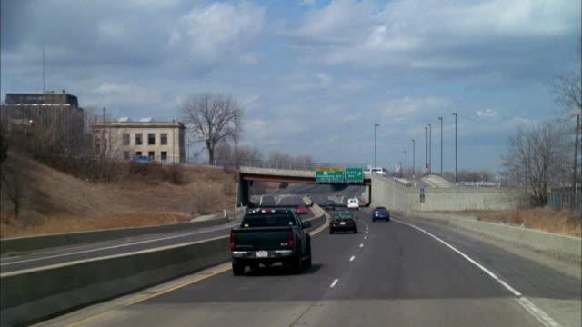 highway traffic takes the grand avenue exit in dayton, ohio. - dayton ohio stock videos & royalty-free footage