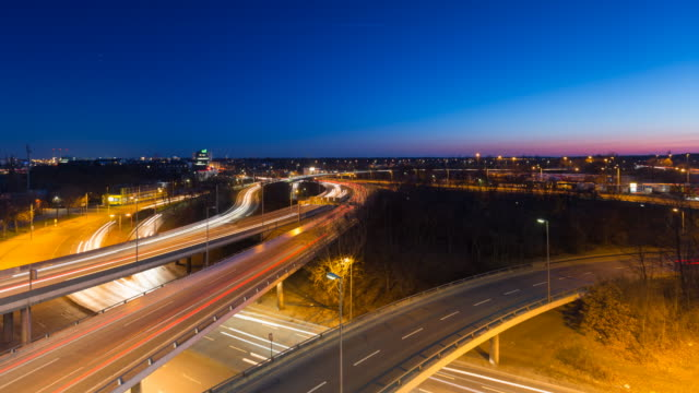 Highway Traffic Timelapse in Berlin