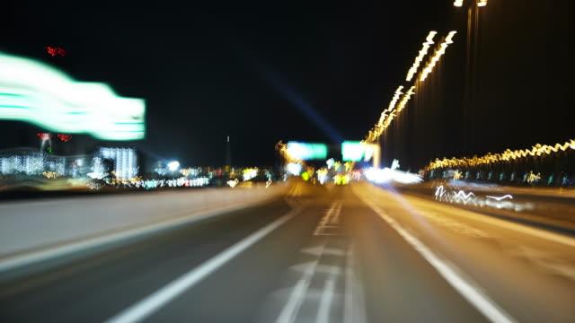 highway - 光跡点の映像素材/bロール