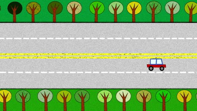 Highway mit Bäumen