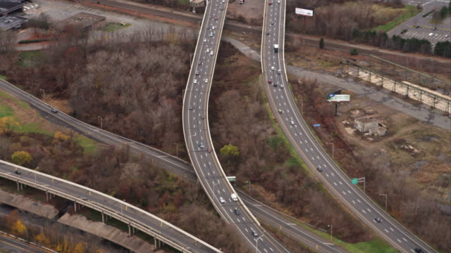 Highways through industrial/commercial area southwest of Hartford, Connecticut. Shot in November 2011.