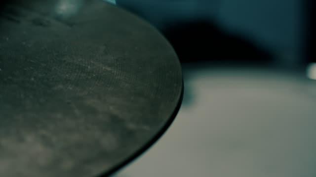 Hi-hat cymbals close-up