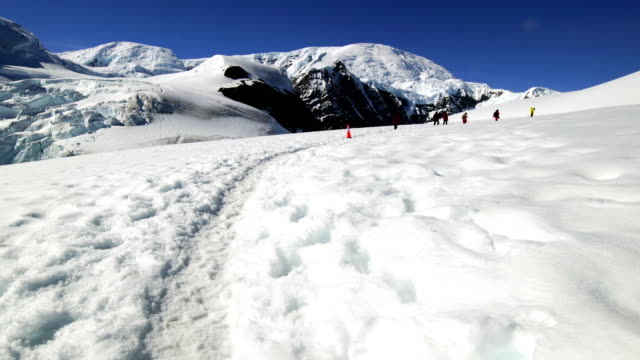 hike in the snow mountain, antarctica - south pole stock videos & royalty-free footage