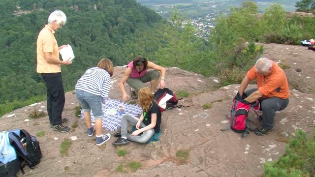 WS Hiker at altfels rock / Kastel-Staadt, Rhineland-Palatinate, Germany