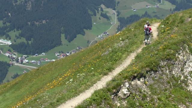 MS Hiker at Mount Fellhorn near Allgau Alps / Oberstdorf, Bavaria, Germany
