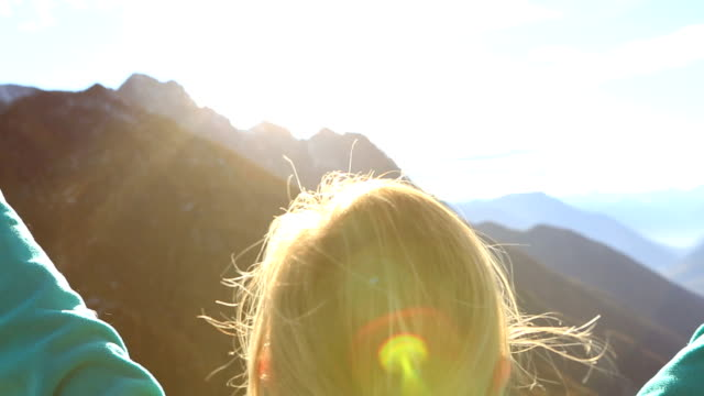 Wanderer auf Mountain Top Liebe zur Natur