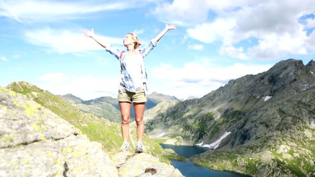 Hiker reaches mountain top-Success