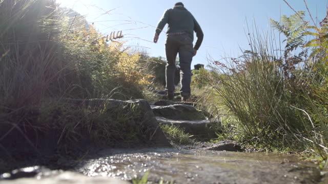 Hiker Walking In Snowdonia Wales