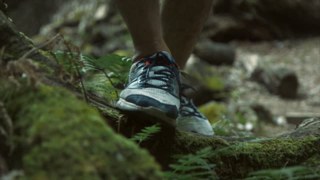 hikers feet (slow motion) - lypsekyo16 stock videos and b-roll footage
