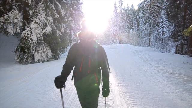 Wandel avontuur, winters tafereel